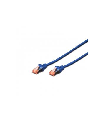 Kable sieciowe DIGITUS DK-1644-010/B (RJ45 - RJ45; 1m; S/FTP; kat. 6; kolor niebieski)