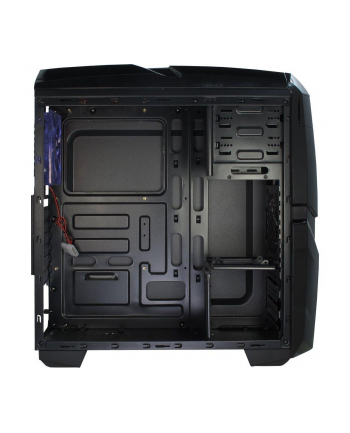 Obudowa Inter-Tech Q2 Iluminator Blue 88881266 (ATX  Micro ATX; kolor czarny)