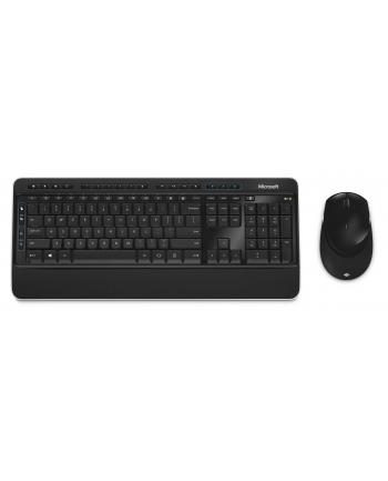 Zestaw klawiatura + mysz Microsoft Desktop 3050 PP3-00008 (membranowa; USB 2.0; (DE); kolor czarny; BlueTrack; 1000 DPI)