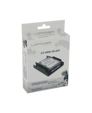 Adapter LC-POWER LC-ADA-35-225 (3.5 ; Plastik; kolor czarny)