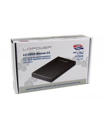 Obudowa do dysku LC-POWER  LC-25U3-Becrux-C1 (2.5 ; USB 3.1; Aluminium; kolor czarny)