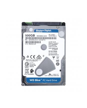 Dysk WD Blue WD5000LQVX (HDD 500GB; 2.5 ; SATA III; 8 MB; 5400 obr/min)