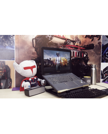 Podstawka chłodząca pod laptop Cooler Master Ergostand IV R9-NBS-E42K-GP (15.6 cala  17.x cala; 1 wentylator; HUB)