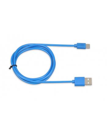 Kabel IBOX IKUMTCB (USB 2.0 typu A - USB typu C ; 1m; kolor niebieski)