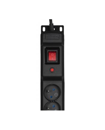 Listwa Przeciwprzepięciowa Activejet COMBO/12gn/1 5m/cz (12 x UTE; 10 A; 1 5m; kolor czarny)