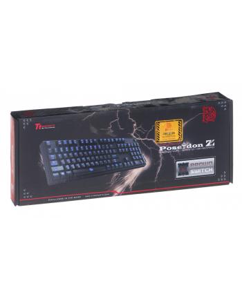 Klawiatura Thermaltake eSports Poseidon Z KB-PIZ-KBBLGR-01 (mechaniczna; USB 2.0; (DE); kolor czarny)