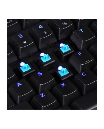Klawiatura Thermaltake eSports Poseidon Z Plus KB-PZP-KLBLGR-01 (mechaniczna; USB 2.0; (DE); kolor czarny)