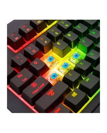 Klawiatura Thermaltake eSports TT Premium X1 RGB KB-TPX-BLBRGR-01 (mechaniczna; USB 2.0; (DE); kolor czarny)