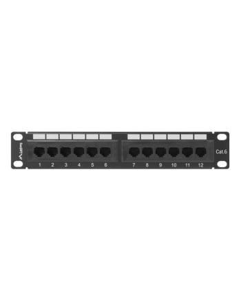 Patch panel Lanberg PPU6-9012-B (1U; 10 ; kat. 6; UTP; 12xRJ-45)