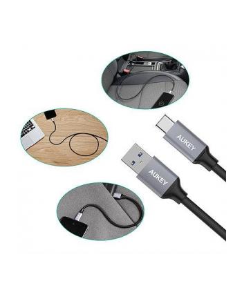 Kabel AUKEY CB-CMD2 (USB 3.0 - USB 3.0 Typu C ; 0 30m  1m  2m; kolor czarny)
