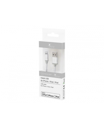 Kabel BLOW Shine 66-105# (USB - Lightning ; 1m; kolor srebrny)