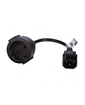 Adapter Akyga AK-PC-10A (C14  IEC C14 M - Schuko F; 0 15m; kolor czarny)