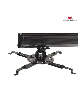 Uchwyt do projektora Maclean MC-733 (ścienny; 225 mm - 705 mm; 15 kg ; kolor czarny)