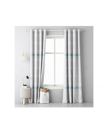 Zasłony Room99 ROM1257 (140x250 cm; kolor biało-szary)