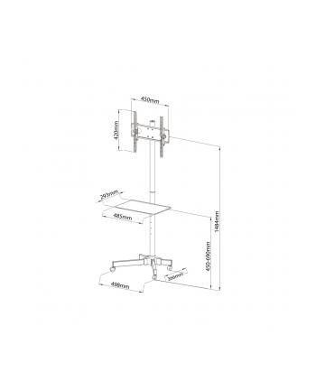 Stolik/wózek na kółkach do TV 23-55  25kg ART S-09