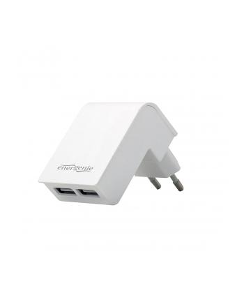 Ładowarka sieciowa do smartfona ENERGENIE EG-U2C2A-02-W (USB; kolor biały)
