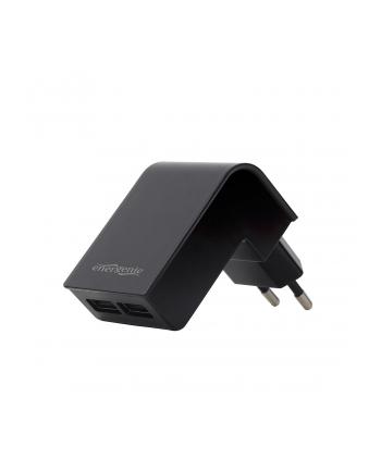 Ładowarka sieciowa do smartfona ENERGENIE EG-U2C2A-02 (USB; kolor czarny)