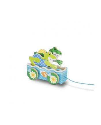 melissa & doug MELISSA Drewniana zabawka do ciągnięcia Friendly Frogs 13615