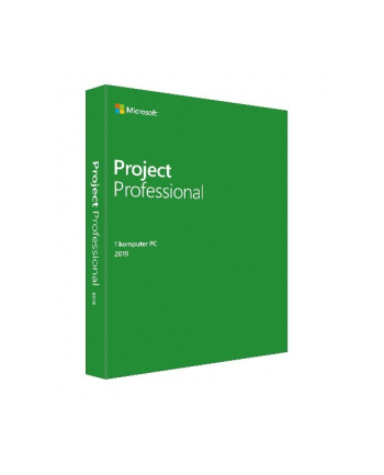 Microsoft Project Professional 2019 Win Pol 1 License MLK