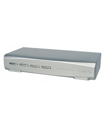 Lindy KVM Switch Pro Audio - KVM / Audio / USB Switch - USB - 4 x KVM / Audio / USB - 1 Local User - Desktop (39311)
