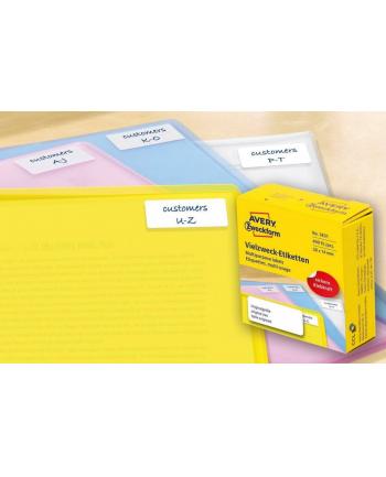 avery zweckform Mini etykiety samoprzylepne do opisu ręcznego, 38 x 14mm, białe, 400 sztuk