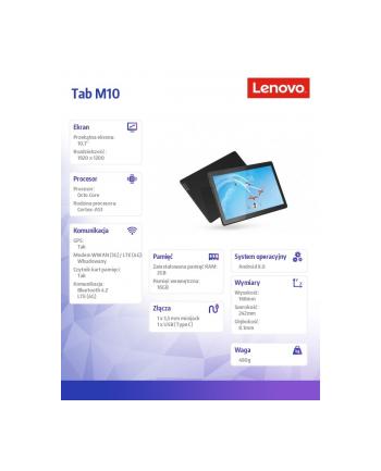 lenovo Tablet Tab M10 TB-X605L ZA490006PL A8.0 Oreo 450/2GB/16GB/LTE/INT/10.1 FHD/Black/2YRS CI