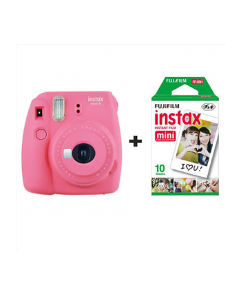 Fujifilm Instax Mini 9 camera Flamingo Pink, 0.6m - ∞ + Instax mini glossy (10)