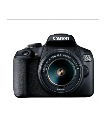 Canon EOS 2000D 18-55 IS III EU26 SLR Camera Kit, Megapixel 24.1 MP, Image stabilizer, ISO 12800, Display diagonal 3.0 '', Wi-Fi, Video recording, APS-C, Black
