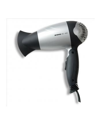 ORAVA HD-400 S Hair Dryer, 2 speeds. 1100W, black/silver