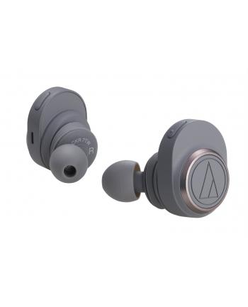 Audio Technica ATH-CKR7TWGY Wireless Headphones, Brown Grey