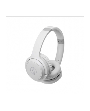 Audio Technica Wireless On-Ear Headphones with Built-in Mic & Controls, White