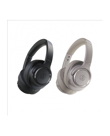 Audio Technica ATH-SR50BTBK Wireless Headphones, Brown Grey