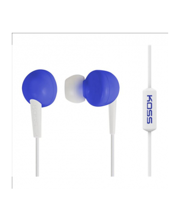 Koss KEB6iB - Earbud w/Enhanced Driver w/Mic Blue