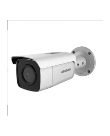 Hikvision DS-2CD2T85G1-I8 F2.8, Bullet; Powered by Darkfighter, H.265+/H.264+; 4K(8MP), 2.8mm(~102°), EXIR 2.0 IR pašvietimas iki 80m, 120dB WDR, SD slot. IP67, PoE