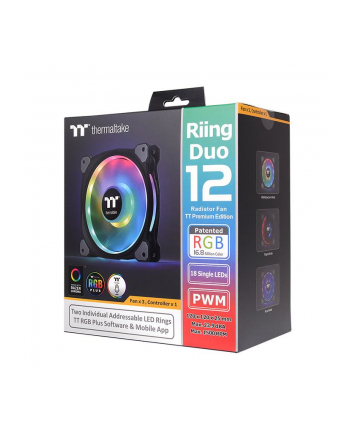thermaltake Wentylator Riing Duo 12 RGB TT Premium Edition 3 szt.