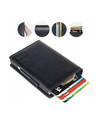 maclean Portfel antykradzieżowy, skórzany RFID RS85