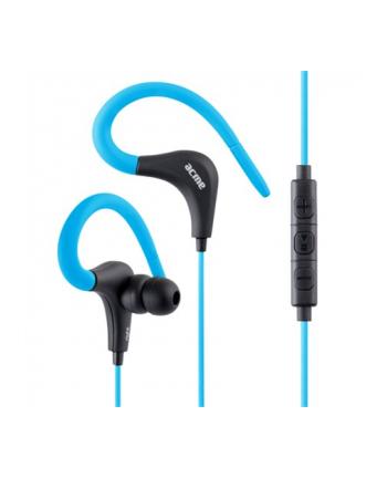 acme europe Słuchawki z mikrofonem HE17B sportowe, douszne, niebieskie
