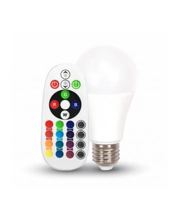 Żarówka LED VT-2022 6W E27 A60 RGB z pilotem