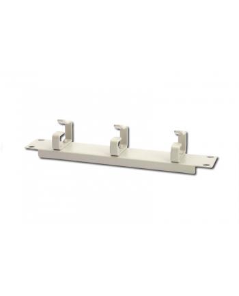 Organizer kablowy poziomy typu RING 10 cali (254mm) 1U 44x254x60mm, szary (RAL 7035)