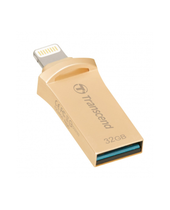 Transcend 32GB, USB drive for iOS device, JetDrive Go 500, Gold