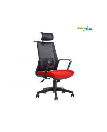 GreenBlue GB180 Fotel biurowy ergonomiczny regulowany zagłówek, podparcie pleców