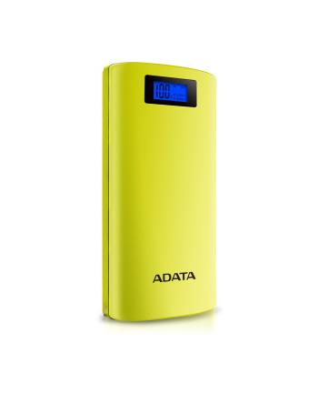 ADATA P20000D Power Bank, 20000mAh, LED flashlight, yellow