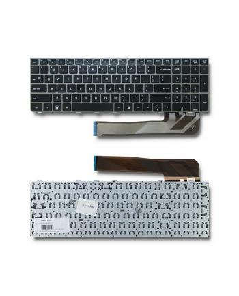 Qoltec Klawiatura do HP Probook 4530   srebrna ramka