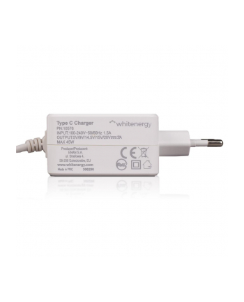Whitenergy zasilacz 5V/3A 9V/3A 12V/3A 15V/3A 20V/2.25A 65W  wtyczka USB C