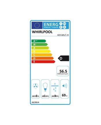Okap Whirlpool AKR 685/1 IX (386 m3/h; 598mm; kolor inox)