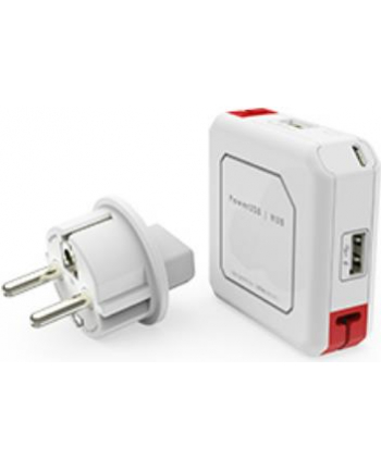 Hub USB allocacoc PowerUSB 9302/EUUHUB (4x USB 2.0; kolor biały)