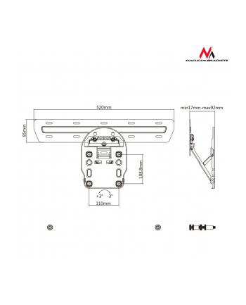 Uchwyt ścienny do telewizora Maclean MC-806 (ścienne; 50  - 65 ; max 50kg)
