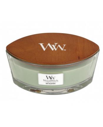 Świeca w szkle WoodWick Elipsa White Willow Moss 76051E (90mm x 120mm)