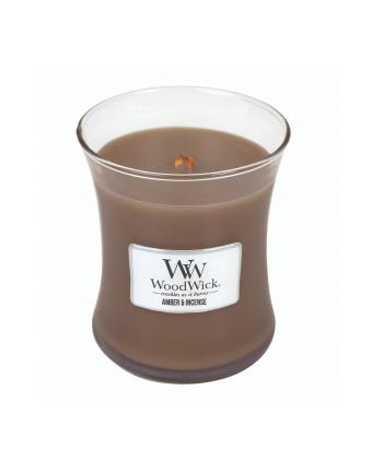 Świeca w szkle WoodWick średnia Amber & Incense 92041E (114mm x 98mm)