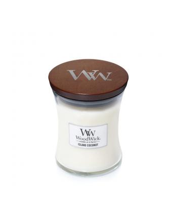 Świeca w szkle WoodWick średnia Island Coconut 92115E (114mm x 98mm)